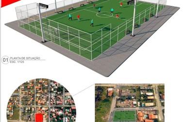 Novos campos de futebol são construídos em Maricá