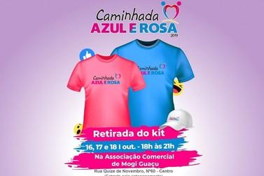 Kits da Caminhada Azul e Rosa podem ser retirados até amanhã