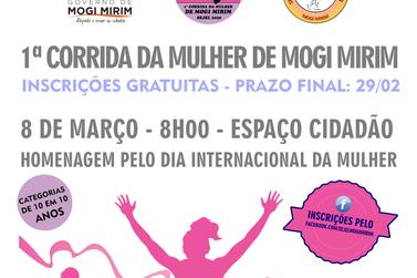 Inscrições abertas para a Corrida da Mulher de Mogi Mirim