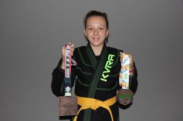 Mogimiriana de apenas 12 anos é 3ª colocada no Brasileiro de Jiu-Jitsu