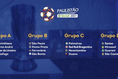 Após sorteio, grupos do Paulistão Sicredi 2021 estão definidos