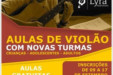 Inscrições para aula de violão para crianças, jovens e adultos estão abertas