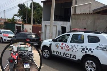 PM prende 2 por receptação e recupera motos furtadas no Guaçu e em Itapira