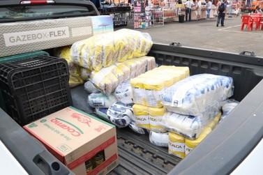 """Projeto """"Mudas Solidárias"""" arrecada mais de 300kg de alimentos"""