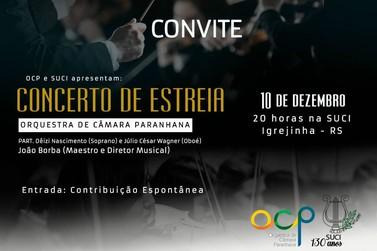 Orquestra de Câmara do Paranhana faz sua estreia neste domingo