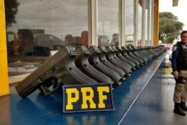 Apreensões de armas e munições pela PRF em Cascavel triplicam em 2017