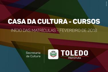 Casa da Cultura: Inscrições começam no mês de fevereiro