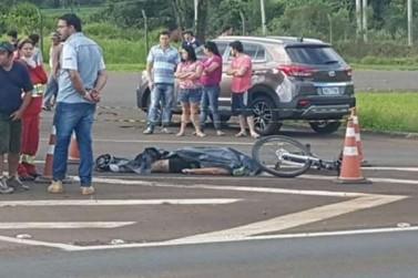 Ciclista de 52 anos morre ao ser atingido por caminhão na BR 277