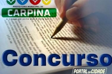 Carpina suspende homologação do concurso 2016