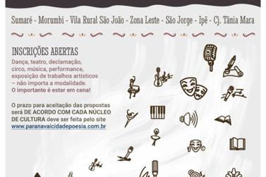 Fundação Cultural vai realizar Sarau Cidade Poesia em quatro Núcleos de Cultura
