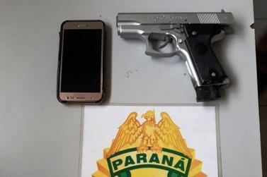 Ladrão de celular é preso com arma de brinquedo em Paranavaí