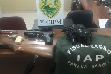 Dupla é presa por caça irregular e porte de arma em Loanda