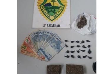 Em liberdade há 3 semanas, homem é preso por tráfico de drogas na Vila Operária