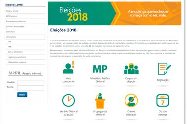 MPPR lança site com orientações e canais de denúncia para as eleições 2018