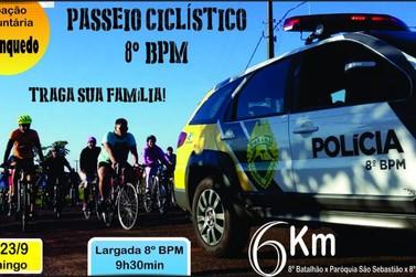 Polícia Militar de Paranavaí realiza passeio ciclístico no próximo domingo (23)