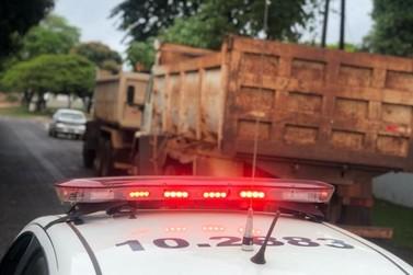 Caminhões roubados são recuperados em ação conjunta da PM do Paraná e do MS