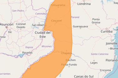 Inmet alerta para risco de temporal e granizo no noroeste do estado