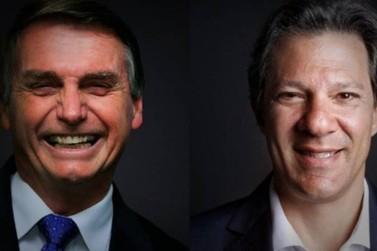 Jair Bolsonaro e Fernando Haddad disputam 2º turno das eleições para presidente