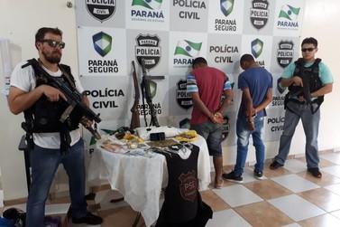 Polícia Civil fecha ponto de drogas e apreende três armas na Vila Operária