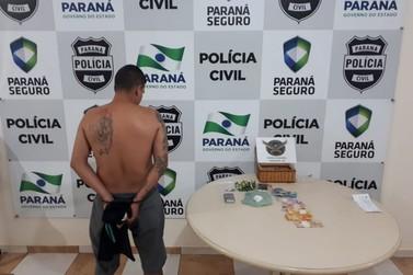 Suspeito de tráfico é preso durante buscas por TV furtada de UBS, em Paranavaí