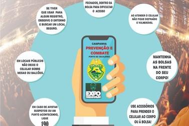 PM lança campanha para evitar furtos de celulares na Expo Paranavaí