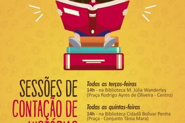Fundação Cultural inicia Sessões Livres de Contação de Histórias nas bibliotecas