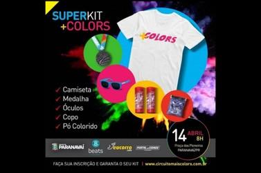 Participantes podem retirar Kits do circuito +Colors nesta sexta e sábado
