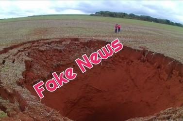 Fotos de cratera atribuídas a meteoro que passou pela região noroeste são fake