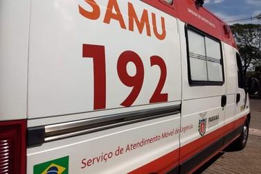 Colisão entre moto e bicicleta deixa três feridos no Jardim São Jorge