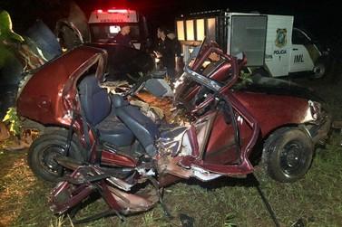 Dois homens morrem em colisão contra árvore próximo a Porto São José