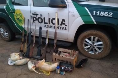Dois homens são presos com sete armas e carnes de animais silvestres em Loanda