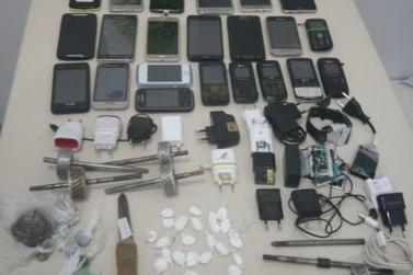 Revista na cadeia de Loanda apreende 22 celulares, drogas e armas artesanais