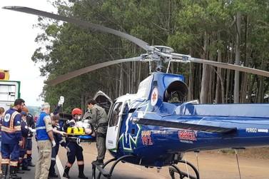 Acidente na BR-376,em Alto Paraná, deixa uma pessoa morta e duas em estado grave