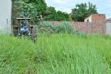 Prefeito encaminha Projeto de Lei que aumenta multa para terrenos com mato alto