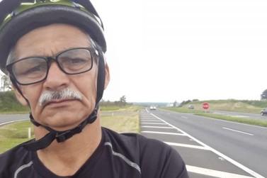 Vereador de 62 anos percorre mais de 500 km de bicicleta de Curitiba a Paranavaí