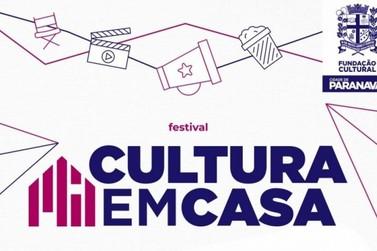 Programação do Festival Cultura em Casa começa nesta quinta-feira (7)