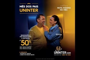 Uninter lança promoção com 50% de desconto nas seis primeiras mensalidades