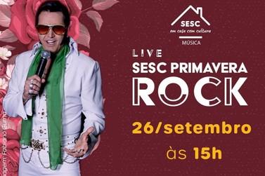 Sesc PR celebra o início da primavera e o rock'n roll em live, neste sábado (26)