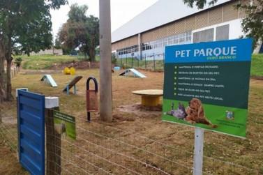 Parquinho para cachorros é instalado no parque do Ouro Branco