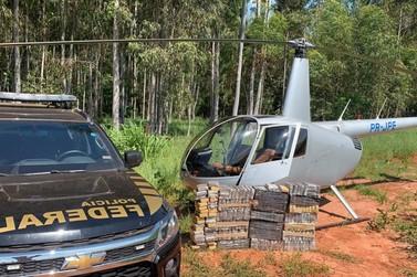 Polícia Federal apreende helicóptero com 220 quilos de cocaína em Santa Mônica