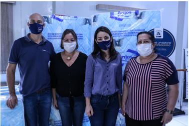 Anjos Colchões & Sofás doa 20 colchões para entidades sociais de Paranavaí