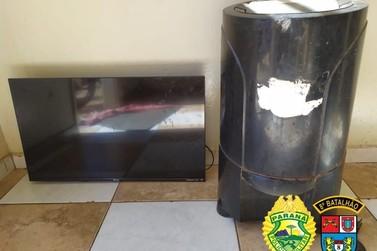 Homem é preso tentando vender televisão furtada em Tamboara