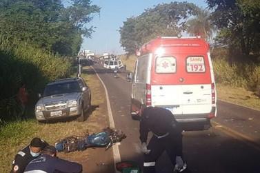 Motociclista morre após colidir com ônibus na PR-182