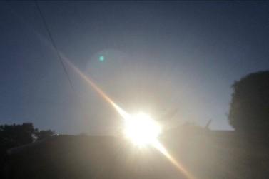 Tempo seco e quente deve predominar nos próximos dias em Paranavaí