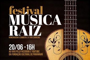 Festival online de música raiz será realizado neste domingo (20)