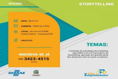 Empreendedores podem participar de oficina online e gratuita sobre Storytelling