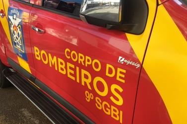 Princípio de incêndio atinge barracão de frangos na PR-561, em Paranavaí