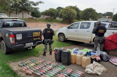 Bolivianos são detidos com mais de 300 litros de combustível contrabandeado