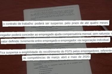 Bolsonaro edita MP que permite suspensão de contrato de trabalho por 4 meses