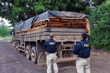 Em menos de 24h, PRF faz duas apreensões de madeira ilegal em Rondônia